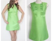 Green With Envy Vintage 60's Mod Mini Dress