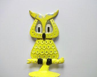 Vintage Revere Mfg. Owl Earring Holder 1970s REDERVED for BERIT