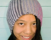 Purple Hat is a Soft Warm Wool and Xtra Large for Dreadlocks