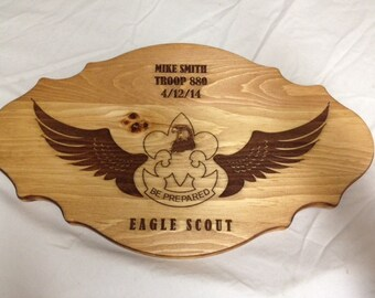 Eagle Scout Award Laser Engraved Plaque #5