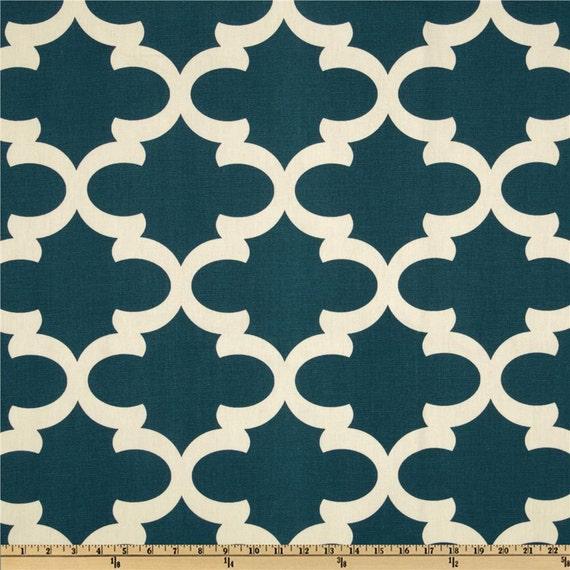 "Two 96"" x50""  Custom Curtain Panels - Large Tile Design - Cadet Blue, Apache Orange, or Red"
