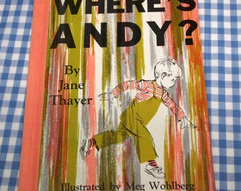 where's andy, vintage 1954 children's book