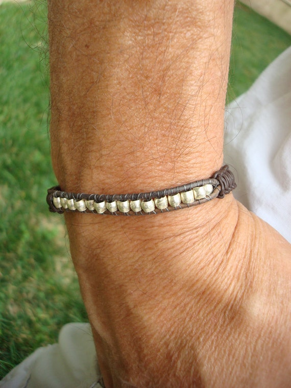 mens macrame bracelet items similar to s leather macrame bracelet handmade 1517