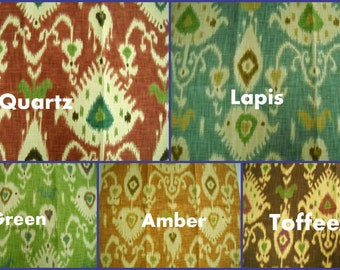 Laura Ashley - Fabric Sample  - Tilbury-  four colorways - 24x24- Ikat