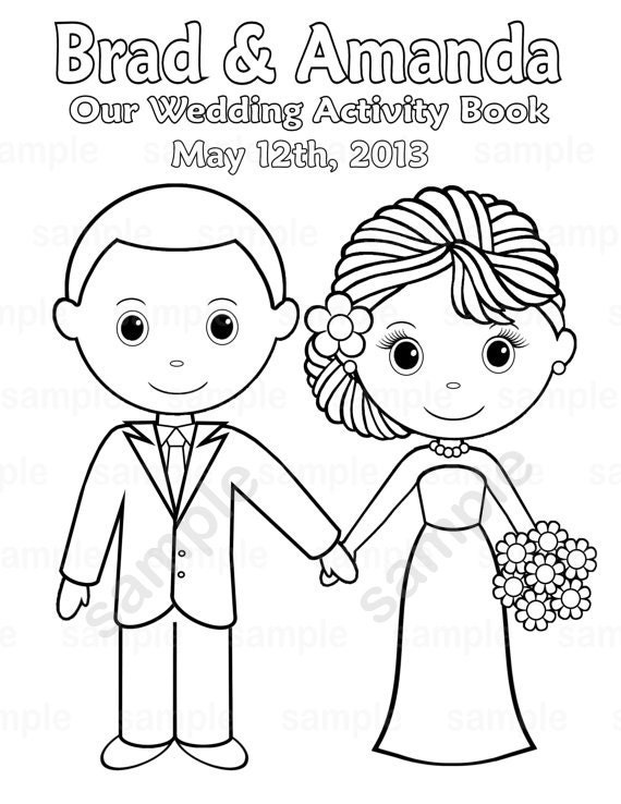 This is an image of Luscious Personalized Wedding Coloring Book