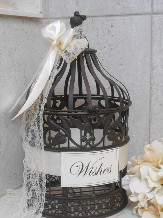 Small Wedding Birdcage Wishing Well Wedding Wishes By ThoseDays