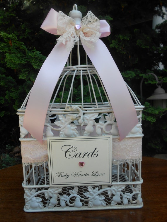 pink baby shower card holder birdcage card holder card box it 39 s