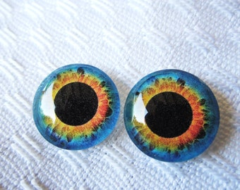 16mm glass eyes for jewelry making craft supplies and dolls