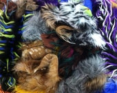 1lb Assorted Monster Fur scraps// colorful and natural