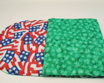 Table Runner St. Patric's Day Table Runner Green Table Runner Fabric Table Runner Red White and Blue Table Cover Quilted Table Cloth