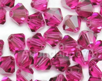 Swarovski Crystal Beads BICONE 5328 5301 FUCHSIA - Available in 3mm, 4mm, 5mm and 6mm