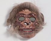 Paper mache monkey mask