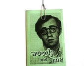 zine: woody and me  --  zines, perzine, woody allen, illustration, mint green, non fiction writing