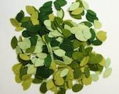 Tiny Die Cut Leaves-Wool Felt Blends-0014