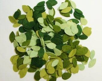 Tiny Wool Felt Blend Leaves for Needle Craft Applique, Scrap Books, Card Making & General Crafts