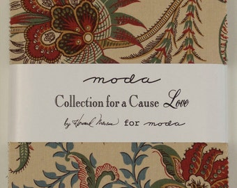 Collections for a Cause - Love Fabric Collection by Howard Marcus for Moda Fabrics - 1 Charm Pack