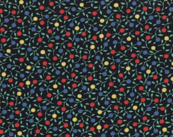 30s Playtime Fabric Collection - Retro Bubble Blooms Black 32787-19 - 1 Yard