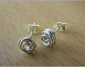 women earrings earstuds sterling silver or 14k goldfill