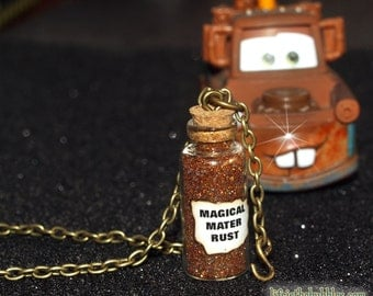 Cars Necklace, Tow Mater Magical Rust Necklace Tow Chain charm, Disney Bound, Disney Necklace Jewelry, Disney Cars Land, Disney Cosplay