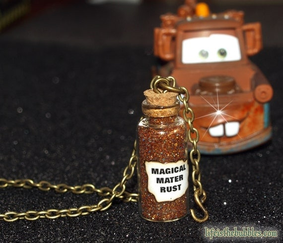 Cars, Tow Mater Magical Rust Necklace and Tow Chain charm, Disney Bounding, Disney Necklace Jewelry, Disney Cars Land, Life is the Bubbles