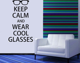 Keep Calm Eye Chart, Optical, Optomestrist Gifts, Optometry, Glasses, Contacts, Wall Decal, Sticker, Vinyl, Home Art, Office Decor, Artwork