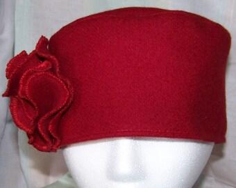 Wool KuFi (Pillbox) hat