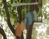 wind chime, colourful handmade porcelain wind chimes