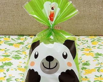 Bear and Honey Cellophane Bag DIY Packaging, Food, Gift or Favor Bag: 10 bags