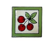 Tile stickers - home decoration - kitchen design -  tile design -   no glue - multiple use  -handmade  stickers - 9.5/9.5 cm
