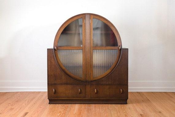 Vintage Art Deco Bar Cabinet Sideboard By Homesteadseattle