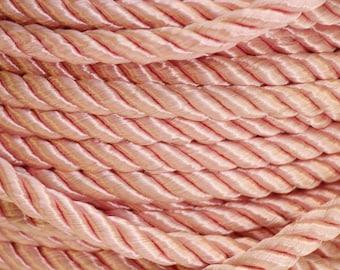 Vintage pink twisted rope trim