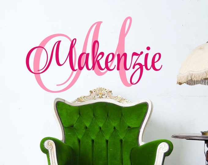 Childrens Wall Decals- Name Wall Decal - Monogram Name Wall decals - Nursery Wall Decal  - Girls Name Decal