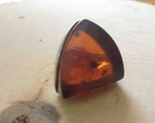 Vintage- RARE Baltic Amber Ring, Size 6
