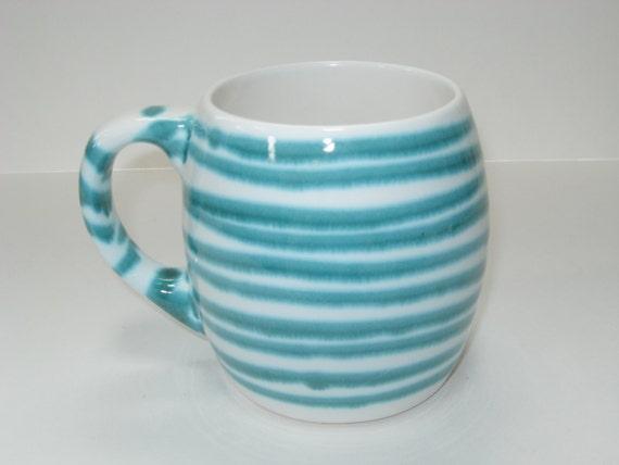 Gmundner Keramik Of Austria Forest Green Stripe Beer Mug Or