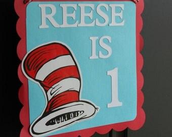 Dr Seuss Door Sign, Dr Seuss Birthday, Dr Seuss Decorations, 1st Birthday, Dr. Seuss Inspired