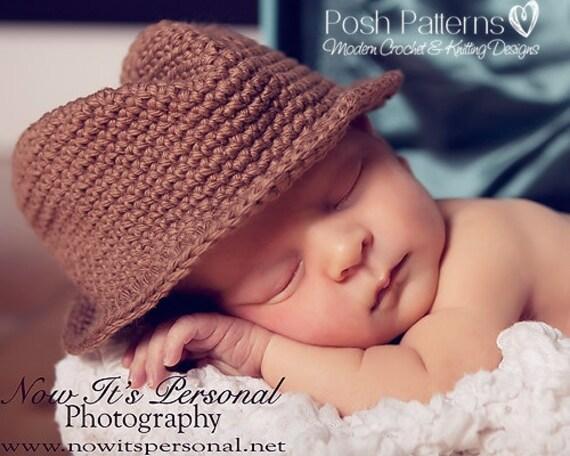 Crochet PATTERN Baby Fedora Little Man Hat Cowboy by ...