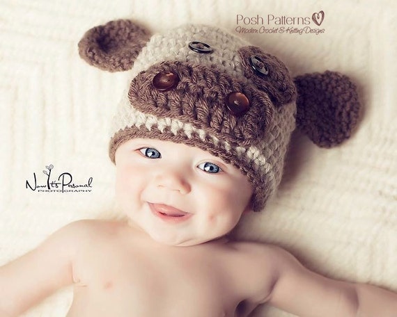 Crochet PATTERN - Crochet Baby Hat Pattern - Baby Cow Hat - Crochet Patterns for Boys - Includes Baby, Toddler, Child Sizes - PDF 221