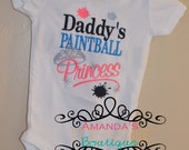 Daddy's Paintball Princess Embroidered Shirt