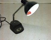 Vintage Metal Desk Lamp Bankers Industrial Task Gooseneck Light Sewing Study Black Small