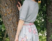 50% DISCOUNT / Floral Print Skirt / Summer Style Women Handmade Skirt / fit for S sized women