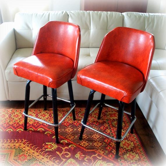 Vintage Burnt Orange Eames Era Bar Stool Cool By
