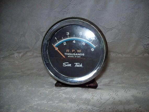vintage sun tach st 602 8000 rpm tachometer no sending unit