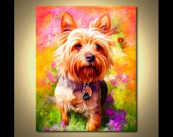 Yorkshire Terrier Portrait | Custom Yorkshire Terrier Portrait | Yorkshire Terrier Painting From Your Photos | Yorkie Art by Iain McDonald