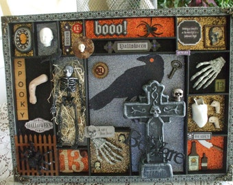 Halloween Shadow Box Wall Decoration - Discounted  Was 38.00 Now 26.00
