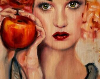 Custom portrait oil painting 18x18