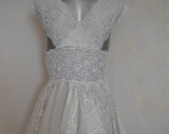 lace wedding dress bohemian wedding dress mori girl wedding dress fairy wedding dress made to order