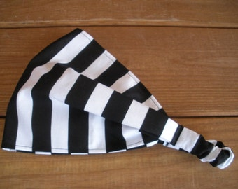 Womens Headband Fabric Headband Summer Accessories Women Fashion Headwrap with Black and White Stripes print