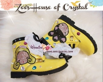 Marten Kid's Boots with shinning CRYSTAL  HARAJUKU LOVERS