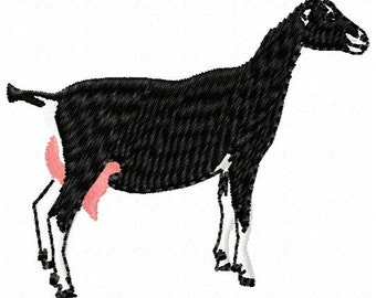 Goat Mahine Embroidery Design - Instant Download