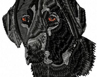 Black Lab Dog Embroidery Design - Instant Download